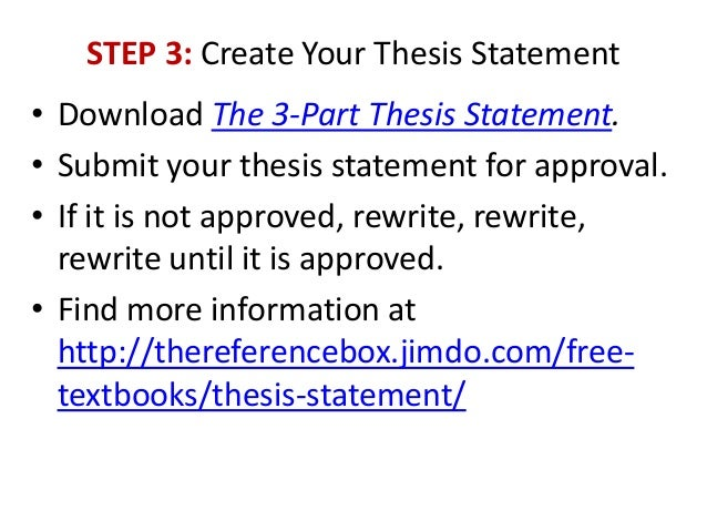 three part thesis statement definition The thesis statement has 3 main parts: the limited subject, the precise opinion, and the which makes it a necessary part of the thesis statement.