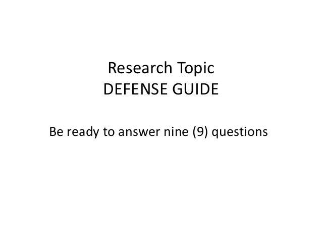 Defending your dissertation