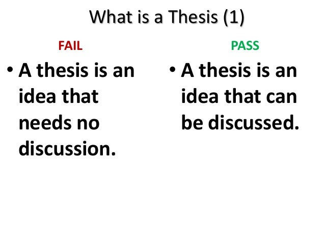 What Is a Tentative Thesis?