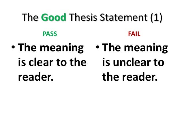 proposal argument thesis statement