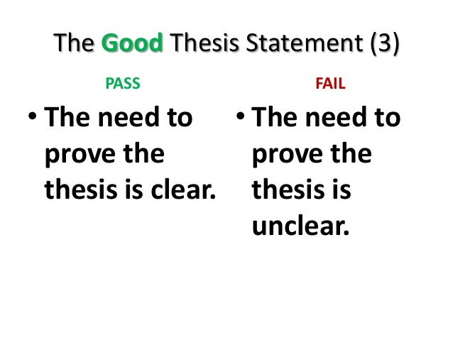 3 part thesis statement