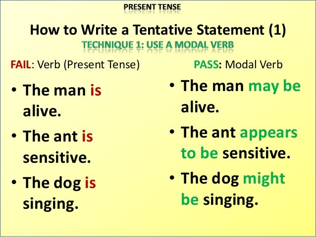 what is a tentative thesis statement