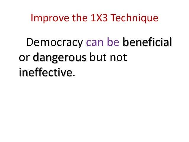 good thesis statement democracy
