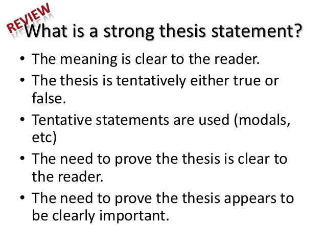 what is the formula for creating a thesis statement