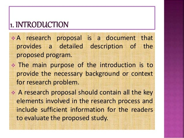 research proposal overview