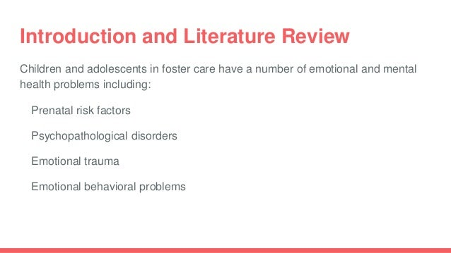 literature review on teenage depression