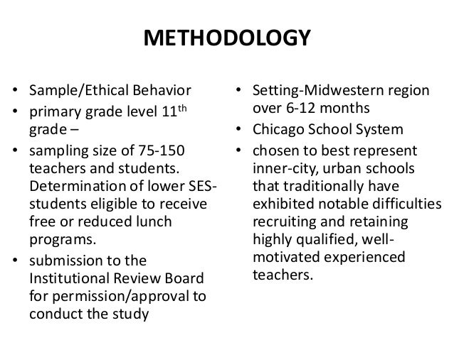 How to write methodology in thesis ppt