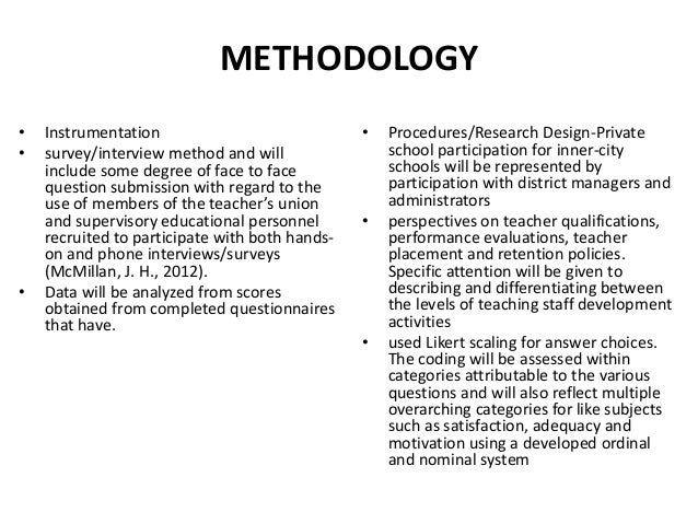 Thesis proposal help how to write methodology