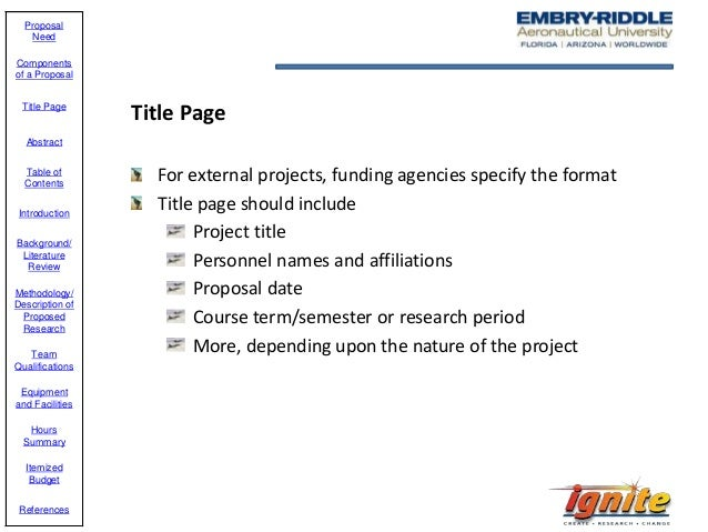 embry riddle capstone project proposal examples