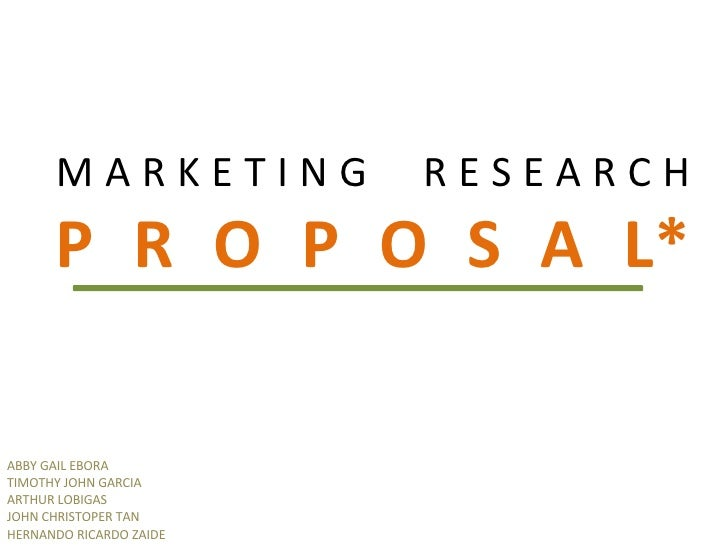 Research proposal presentation example ppt