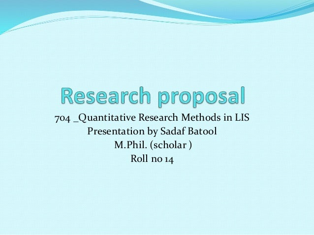 Research proposal for m phil education