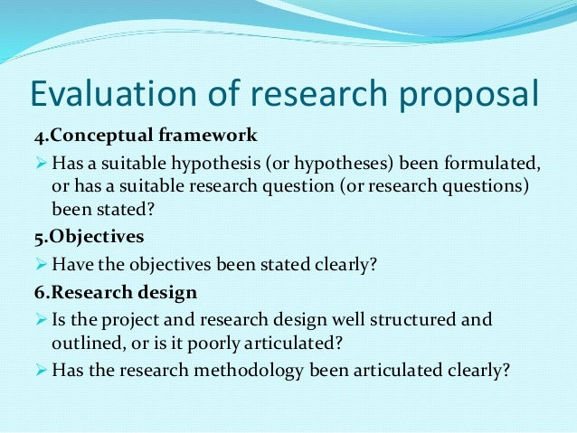 research proposal on evaluation of future On november 4, 2016, the department of defense proposed a new rule applicable to major defense contractors who expect to use future independent research and development (irad) to perform dod contracts the proposed rule requires dod agencies to assign an evaluation cost penalty to the proposed.