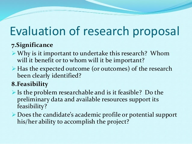 evaluating thesis proposal