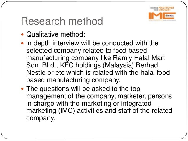 Research proposal on nestle and haleeb