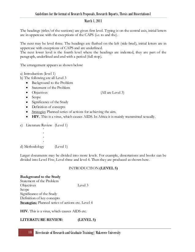 research proposal thesis format ver 4 april 2011 rh slideshare net Makerere University College of Medicine Makerere University Logo