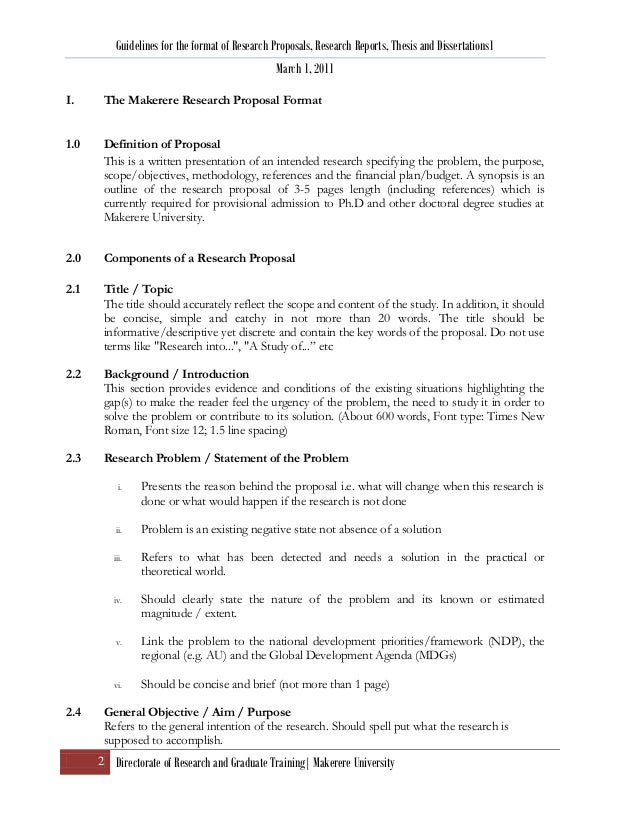 Research proposal thesis format ver 4 april 2011 – Research Proposals