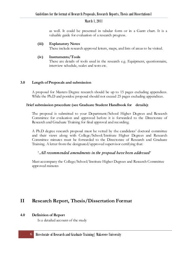 research proposal format thesis