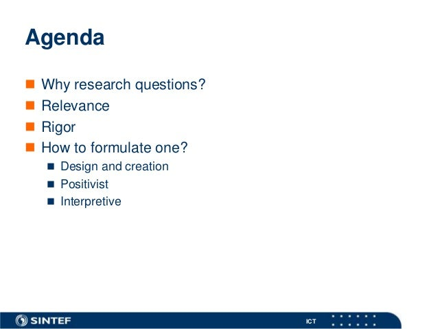 Research questions Slide 2