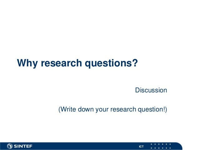 Research questions Slide 3