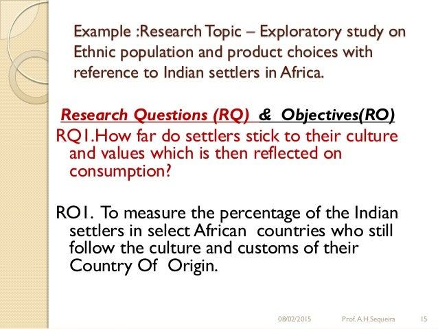 characteristics of exploratory research