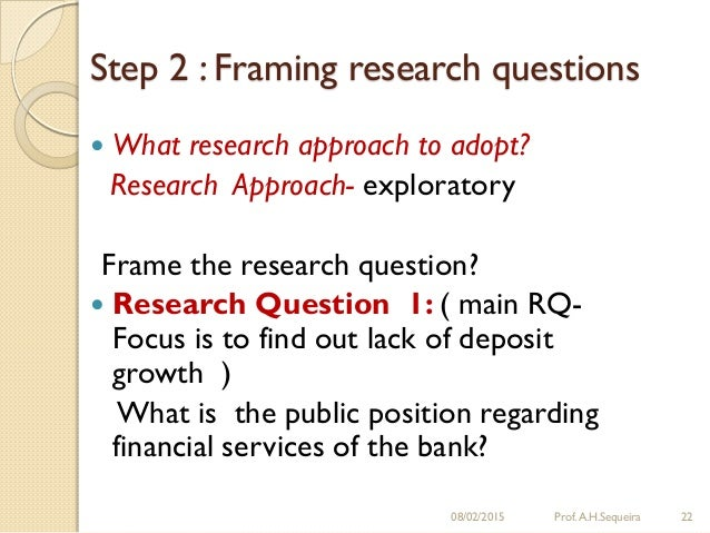 framing a research question Develop questions edit 2 13 0 tags no framing an action research question identify an area of change that is possible for you to make that will move you in.