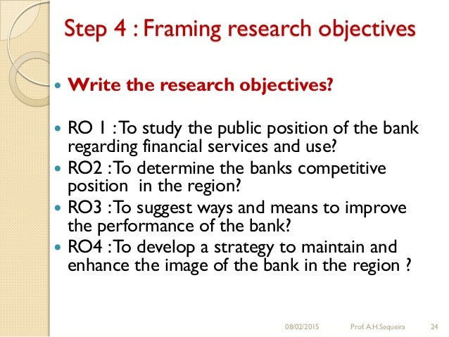Formulating Research Aims and Objectives