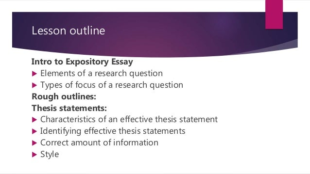 Expository Essay Introduction  Thesis Statement Expository Essay Russell Rodrigo