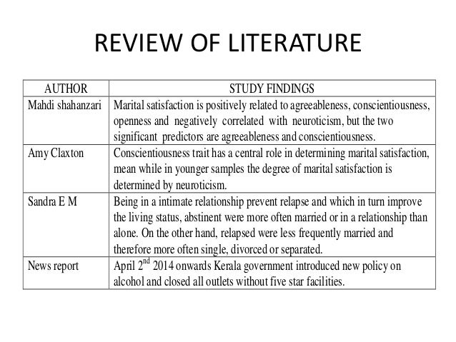 review of related literature of alcoholism Chapter ii: literature review similar content long-term impact of adolescent risky behaviors and family environment having a first drink at age 15 or younger increased the odds of later having 3 or more alcohol-related problems.