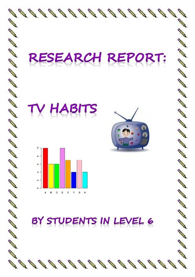 Research report: Tv Habits