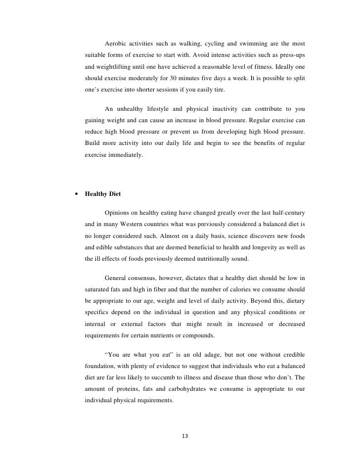 research paper on diet and health