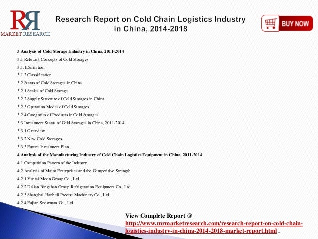 china cold chain logistics industry report 2014 Shanghai swire cold chain logistics fosters a healthier fresh food industry in china june 12, 2018  recently, produce report paid a visit to a warehouse of shanghai swire cold chain logistics co ltd (sccl) near yangshan port in fengxian district  in 2014, customers of huizhan fruit market sought out cooperation with sccl after hearing.