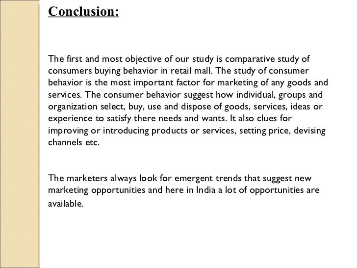 research paper on consumer behaviour in shopping mall Working paper no 222 drs-icrier in the malls iii research of the customers of shopping malls consumer behaviour is psychology behind market and.