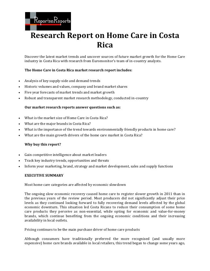 Research Report on Home Care in Costa                       Rica    Discover the latest market trends and uncover sources ...