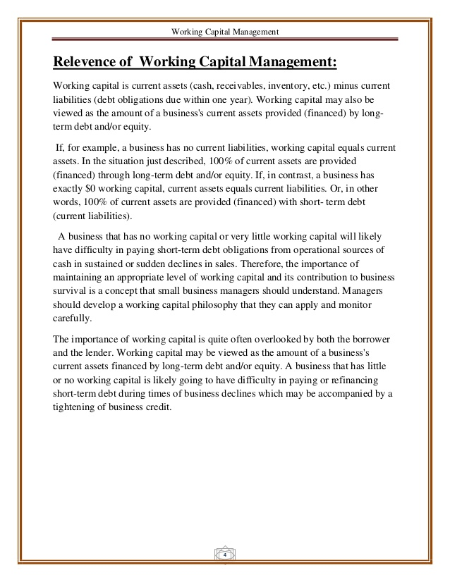 Essay on working