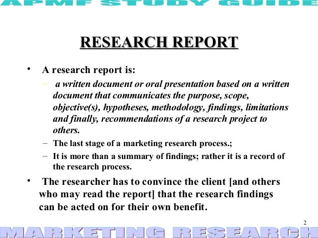 Research report ppt – Research Report Sample