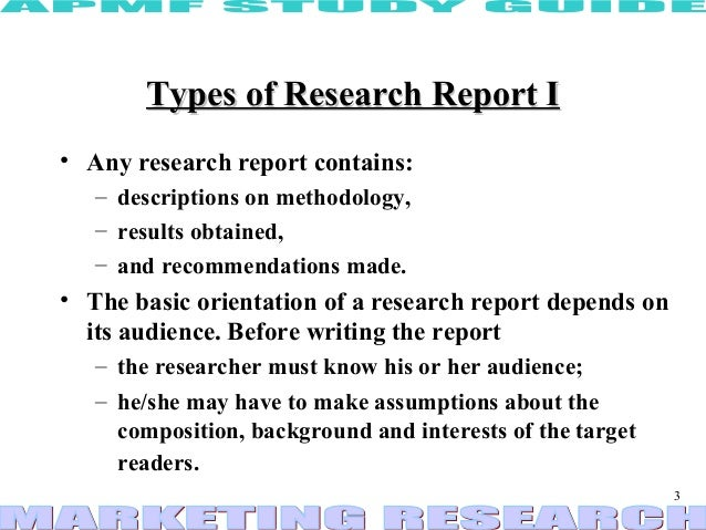 Research report ppt – Type of Business Report