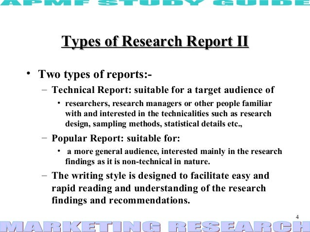 Report writing in research