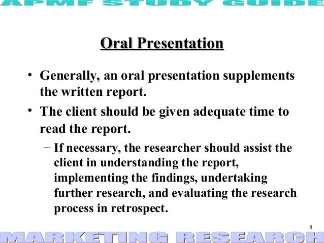 oral report writing it is used in