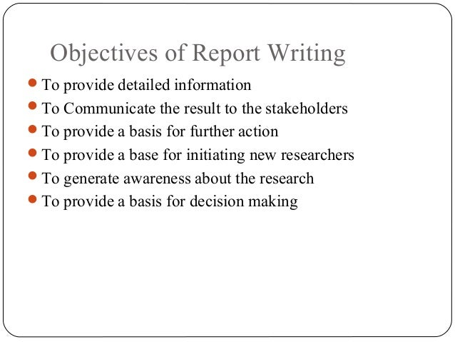how to write a research review report consolidated