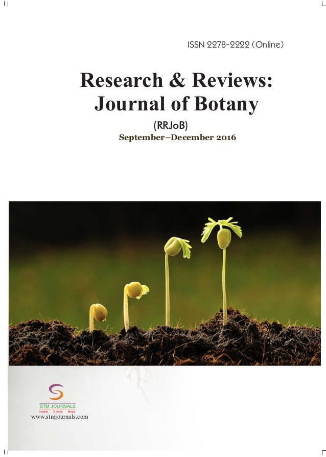 Research& Reviews Journal of Botany vol 5 issue 3