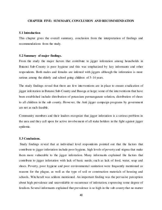 literature review on jiggers infestation