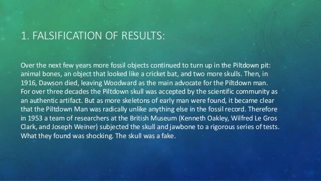 Piltdown man fluorine dating