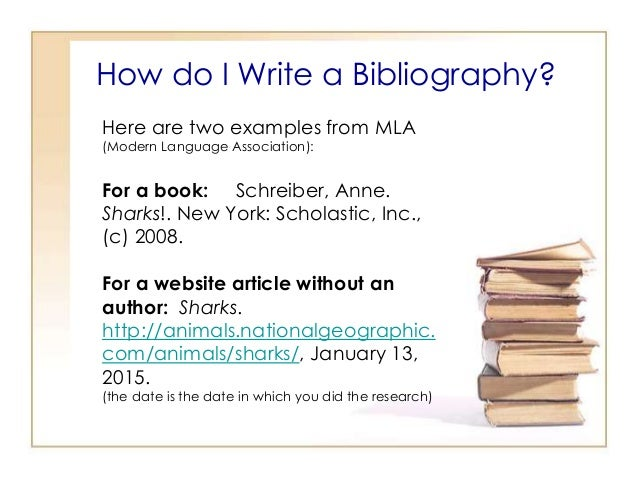 how to write a bibliography page