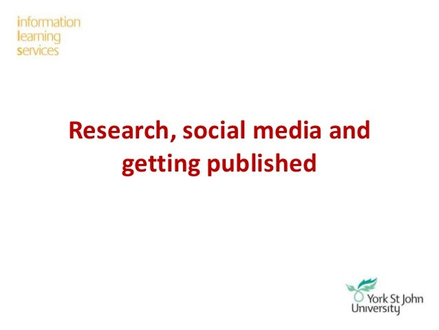 Research, social media and getting published