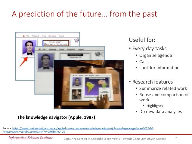 Capturing Context in Scientific Experiments: Towards Computer-Driven Science Slide 2