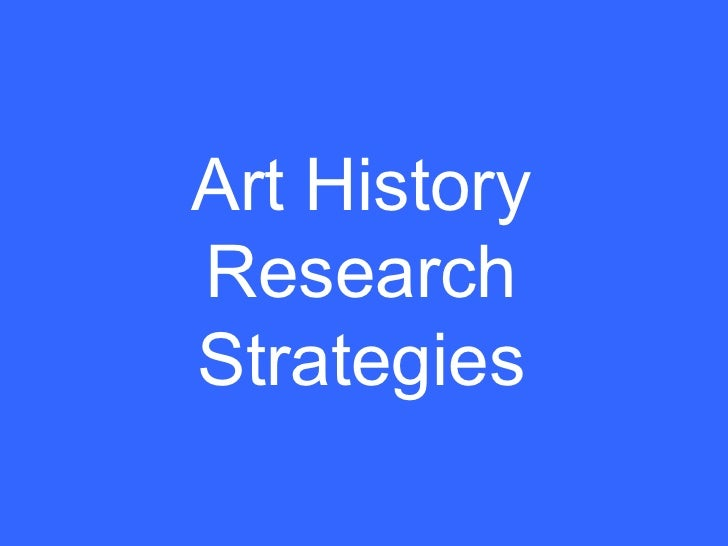 Art History Research Strategies
