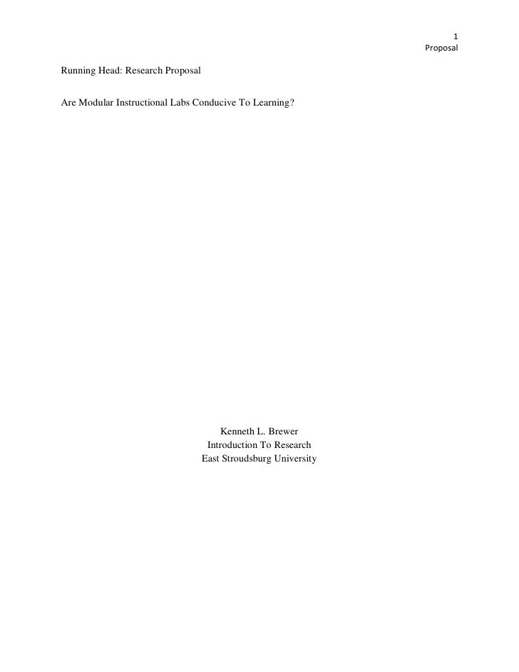 1                                                                 Proposal  Running Head: Research Proposal   Are Modular ...