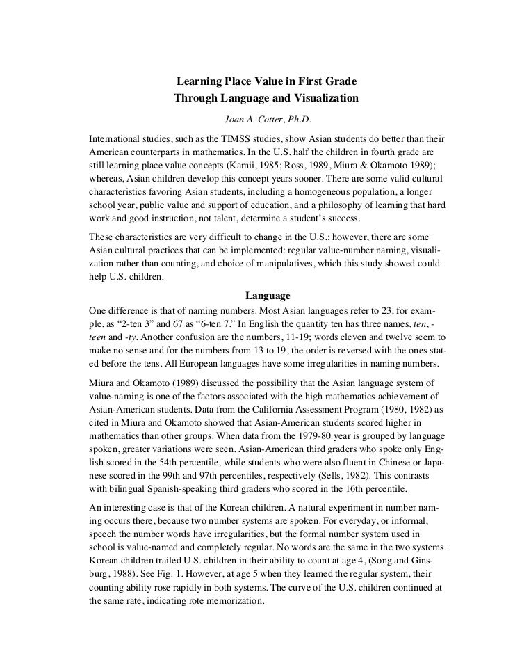 Rightstart mathematics research summary for Research synopsis template