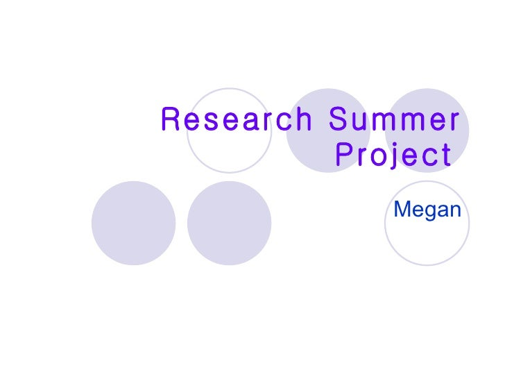 summer research projects in chemistry Summer research opportunities for undergraduates summer is a great time to get involved in research, whether it's in a field you intend to study seriously, or in one you just want to try out there are many opportunities for funding, as you'll see below, and you are encouraged to take advantage of these.