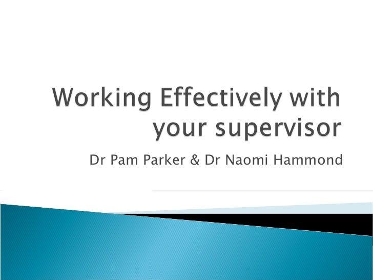 Dr Pam Parker & Dr Naomi Hammond